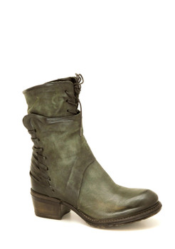 "AS98 Chet Jungle Green 10"" Leather Lace Up Ankle Boots"