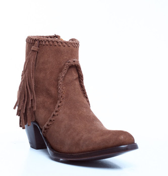 BL1116-46-SS Old Gringo 'Adela' Snuff Soft Suede Fringe Leather Ankle Boots