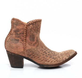 BL1460-4-SS Old Gringo Susy Ochre Leopardito Leather Ankle Boots