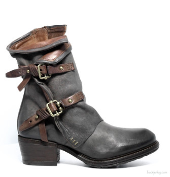 "AS98 Chilly Smoke & Cognac 8"" Leather  Ankle Boots"