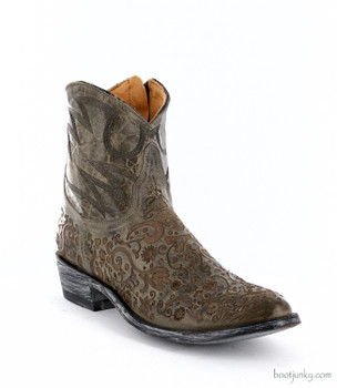 "L1709-2 OLD GRINGO FRANCIPAOLA LS 7"" GRAY ANKLE BOOTS"