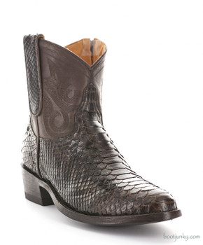 "L2039-1 OLD GRINGO NEVADA ZIPPER 7"" CHOCOLATE PYTHON ANKLE BOOTS"