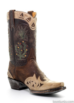L 412-38-SS OLD GRINGO CACTUS BRASS / CHOCOLATE COWGIRL BOOTS