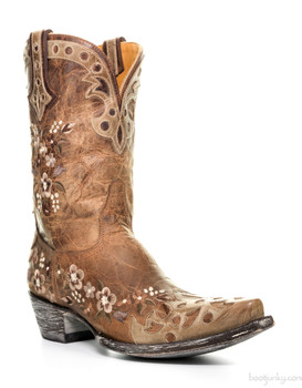 "L1389-4 OLD GRINGO ADELINA 10"" ORYX/BONE/BRASS COWGIRL BOOT"