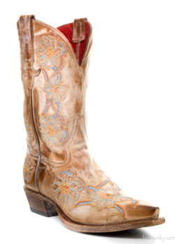 "M8547-RR MACIE BEAN ""YOUR NO DAISY"" 10"" COWGIRL BOOTS"