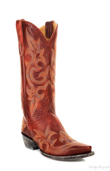 """L 113-61-SS OLD GRINGO DIEGO RED 13"""" COWGIRL BOOT"""
