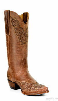 "L 282-1 OLD GRINGO VIRIDIANA 13"" RUST COWGIRL BOOTS"