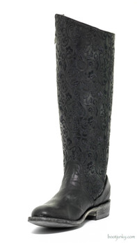 "L1068-1-SS OLD GRINGO FLAMMA 15"" BLACK COWGIRL BOOT"