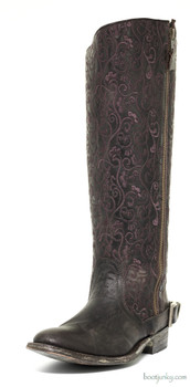"L1068-2-SS OLD GRINGO FLAMMA 15"" CHOCOLATE COWGIRL BOOT"