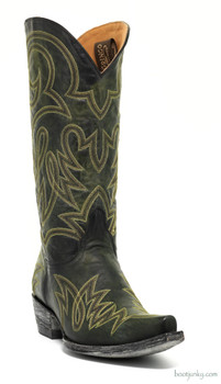 "L1097-12 OLD GRINGO LAUREN 13"" BLACK / YELLOW COWGIRL BOOTS"