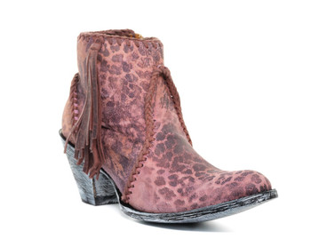 BL1116-19-SS OLD GRINGO 'ADELA' PINK LEOPARDITO LEATHER ANKLE BOOT