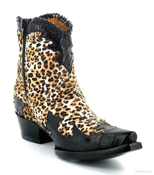 BL 473-12 OLD GRINGO VENICE BROWN / BLACK HAIR ON HYDE LEATHER ANKLE BOOT