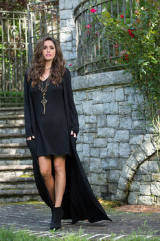 05. BRONTE COLLECTION BLACK KETA DRESS DUSTER COMBO