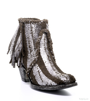 BL1116-15-SS OLD GRINGO 'ADELA' PEP BROWN / SILVER SUEDE LEATHER ANKLE BOOTIES
