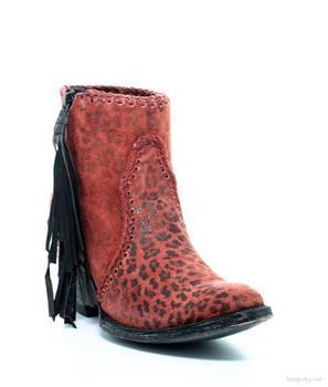 BL1116-18-SS OLD GRINGO ADELA RED LEOPARDITO LEATHER ANKLE BOOTS