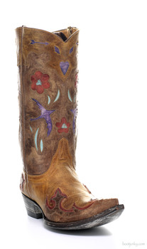 "L 179-12-SS OLD GRINGO GOLONDRITA 12"" BUTTERCUP / BRASS COWGIRL BOOTS"