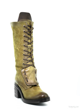 "AS98  ADAM SENAPE 14"" MID CALF WOMEN'S LEATHER BOOT"