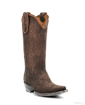"L1990-3-SS OLD GRINGO CASSIDY 13"" CHOCOLATE COWGIRL BOOTS"