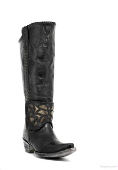 "L1996-4-SS OLD GRINGO MELISA 15"" BLACK COWGIRL BOOTS"