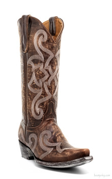 "L2040-2-SS OLD GRINGO THORA STITCHED 13"" BRASS COWGIRL BOOTS"