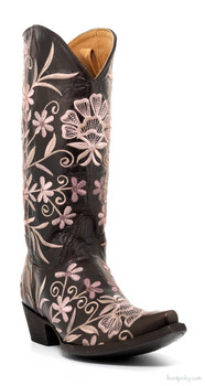 "L2209-6-SS OLD GRINGO JENNY 13"" EMBROIDERED VESUVIO CHOCOLATE COWGIRL BOOTS"