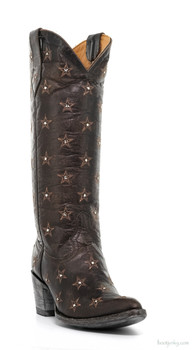 "L2308-2-SS OLD GRINGO LIBERTY 15"" CHOCOLATE SWAROVSKI CRYSTAL COWGIRL BOOTS"