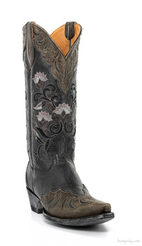 "L2477-3-SS OLD GRINGO NAOMI OVERLAY 13"" BLACK COWGIRL BOOTS"