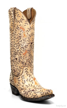 "L2481-1 OLD GRINGO LS DRAGON FLY 13"" LASER ETCHED COWGIRL BOOTS"