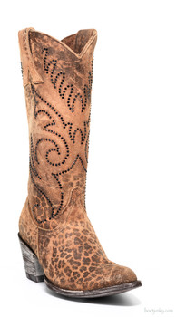 "L2646-7-SS OLD GRINGO MARSELL CRYSTAL 13"" OCHRE SUEDE LEATHER COWGIRL BOOTS"