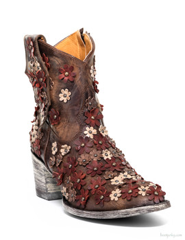 "L 840-11 OLD GRINGO HIPPIE CHICK BRASS RED  BONE  8"" ANKLE BOOTS"