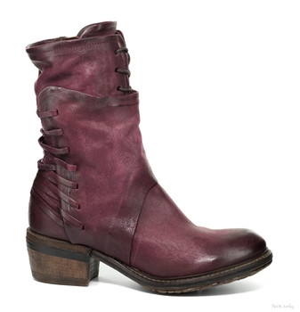 "AS98 CHET CHIANTI 10"" LEATHER LACE UP ANKLE BOOTS"