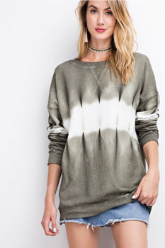 ET7711 Easel TIE DYE PULLOVER French Terry Sweatshirt