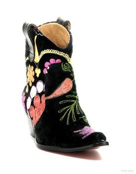 ROCKWELL THARP BRISBANE MULTI HAND EMBROIDERED ONE OF A KIND COWBOY BOOTIES