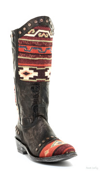 "L1639-2 OLD GRINGO MARICO 13"" RAZZ CHOCOLATE / RED COWGIRL BOOTS"