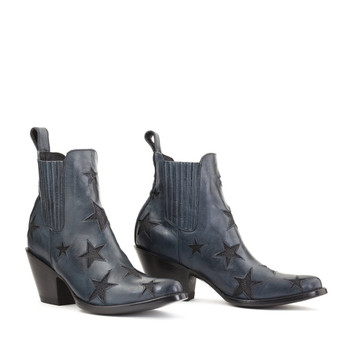 BL2406-8-LB MEXICANA BY OLD GRINGO BOOTS CIRCUS REACH FOR THE STARS RANCHERO BLUE ANKLE BOOTS