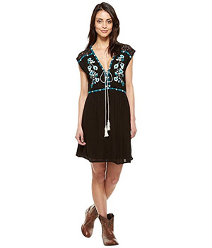 Double D Ranchwear Ramblin Rose Black Dress