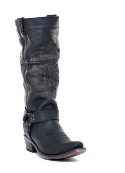"JG0006B JUNK GYPSY BY LANE ""SHE WHO IS BRAVE"" BLACK COWGIRL BOOTS"