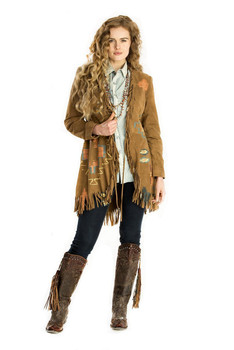 Double D Ranch Flint Hill Brown Suede Jacket