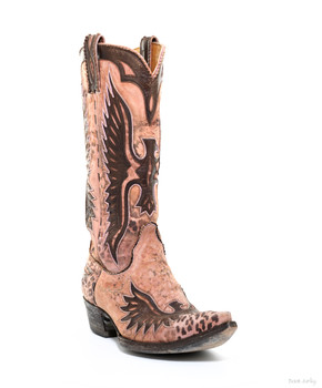 "L 105-65-RR Old Gringo Elvis Eagle Pink 13"" Cowgirl Boots"