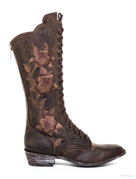 """L 825-1 OLD GRINGO GRANNY PATSY 13"""" LACE UP WOMEN'S BOOTS"""