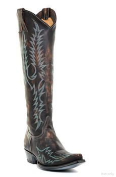 """L1213-11 OLD GRINGO WOMEN'S MAYRA BIS 18"""" SHEDRON COWGIRL BOOTS - SNIP TOE"""