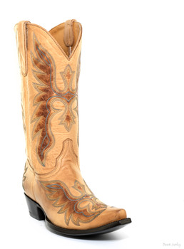 """L2778-4 OLD GRINGO BRAVE 13"""" HONEY LEATHER COWGIRL BOOT"""