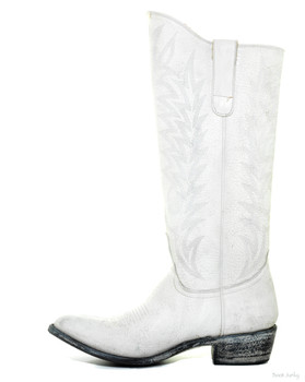 "L 340-42 OLD GRINGO RAZZ WHITE 13"" COWGIRL BOOTS"