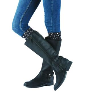 BOOTIGHTS Nikki Nailhead Knee Hi Boot Socks