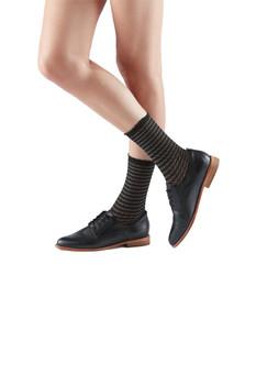BOOTIGHTS Honey Comb Black Sheer Crew Socks