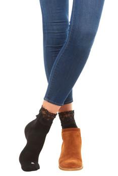 BOOTIGHTS  Black Lace Sport Anklet Socks