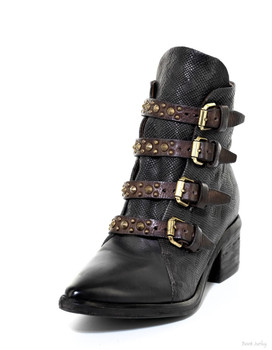 AS 98 Frankie Smoke (Black) Leather Ankle Boot