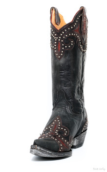 """L 814-7-SS OLD GRINGO TAKA BROWN STUD 13"""" COWGIRL BOOT"""
