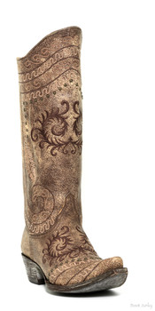 "L 828-6-SS OLD GRINGO ZARAPE RAZZ 13"" LT BROWN COWGIRL BOOTS"