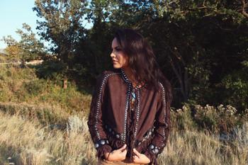 Double D Ranch Rio Cuarto Dark Tierra Leather Jacket
